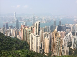 HK Peak cityscape
